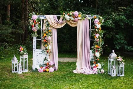 """alt=""""décoration arche porte cérémonie laique"""""""