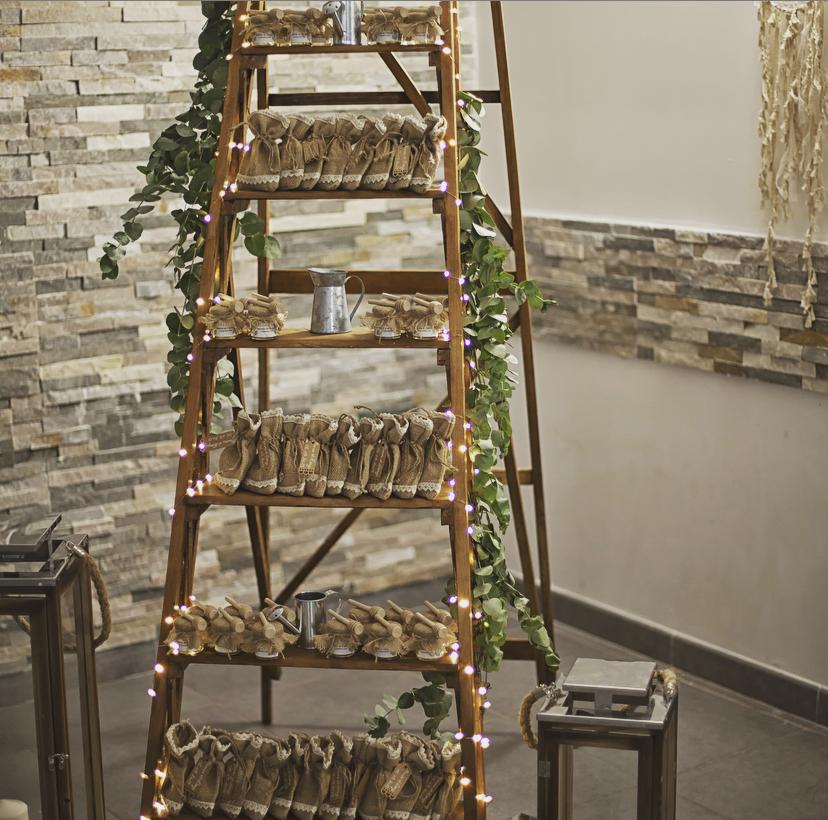 Décoration chic et champêtre des cadeaux invités du mariage de Marine et Denys