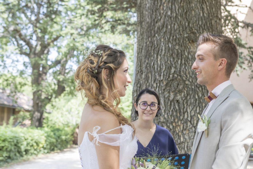 cérémonie laique du mariage en provence de Bastien et Diane