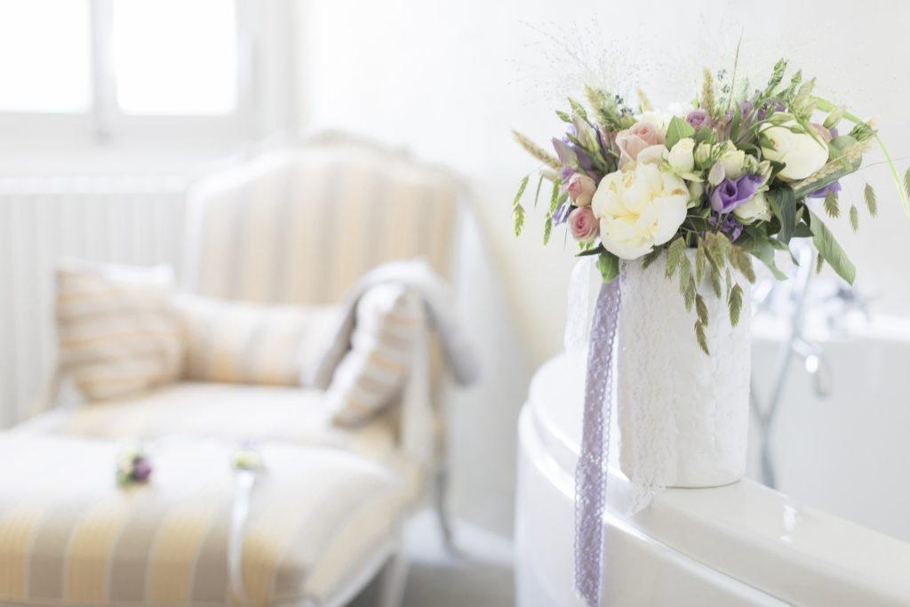 détail fleur dans le thème Provence du mariage de Diane et Bastien
