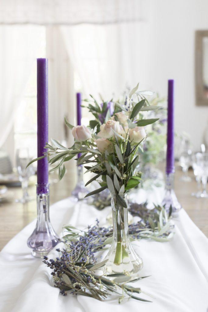 Décoration provençale de la table des mariés
