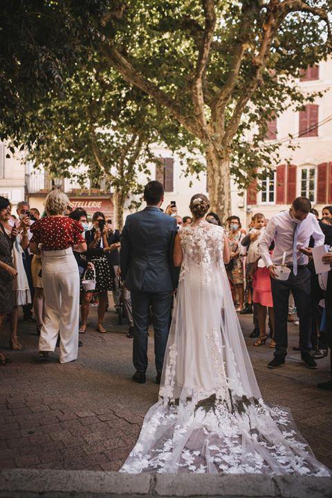 Mariage Chloé et Nicolas sortie de l'église