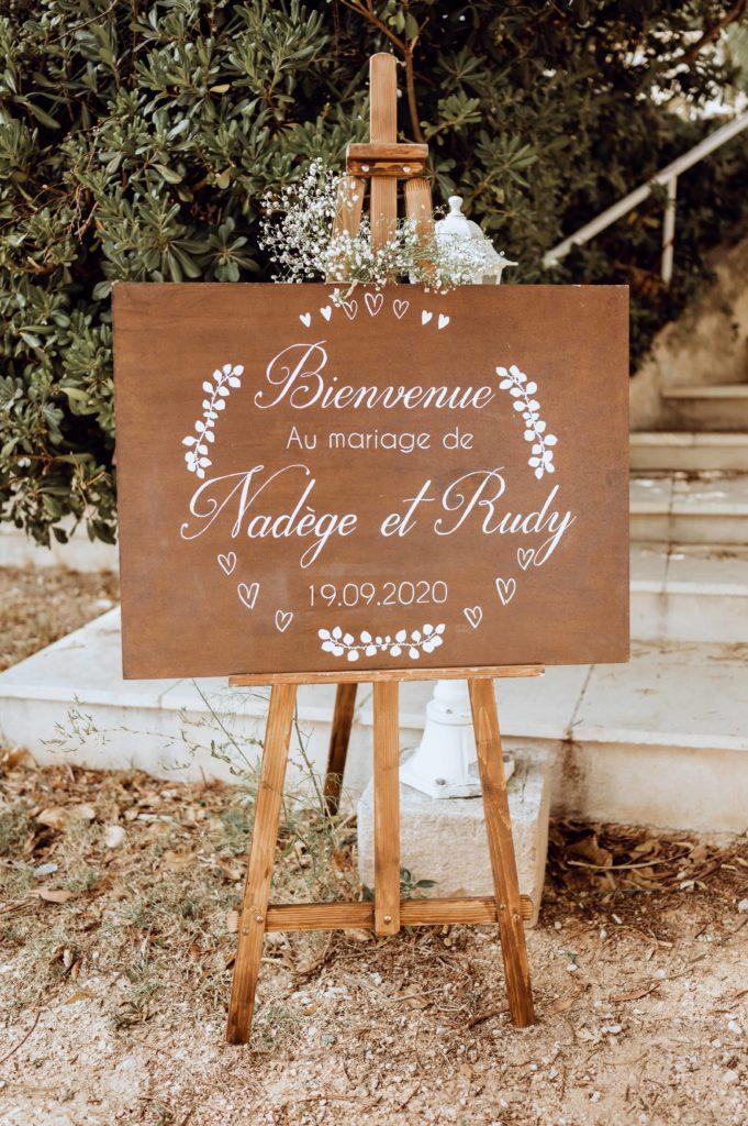 panneau de bienvenue mariage
