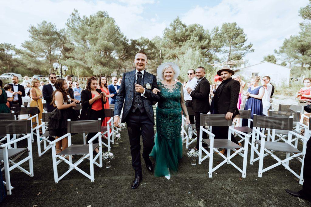 entrée du marié cérémonie laique