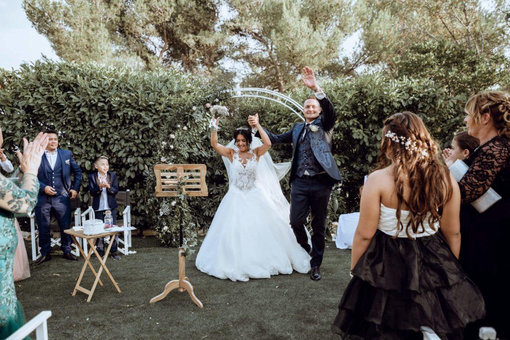sortie des mariés cérémonie laique