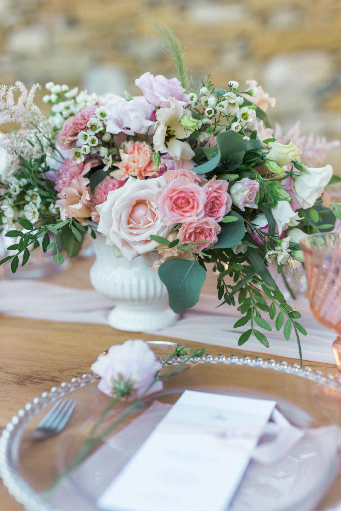 shooting clos du tuilier décoration table composition florale