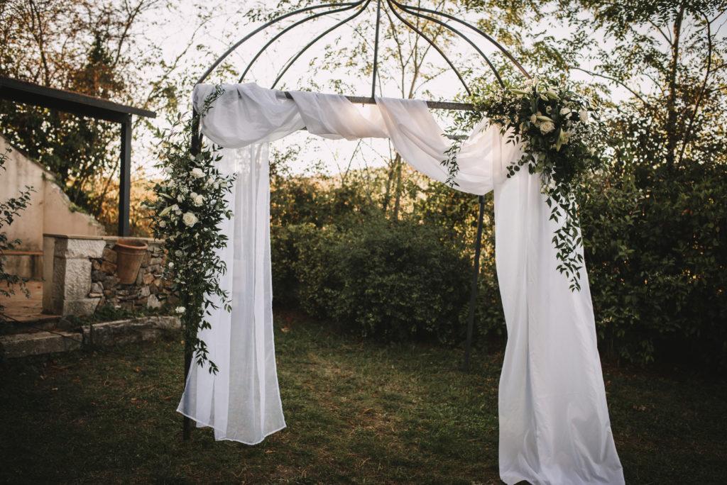 Arche mariage Chloé et nicolas